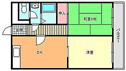 グロー駒川中野[7階]の間取り