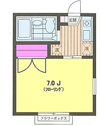 東京都世田谷区桜1丁目の賃貸アパートの間取り