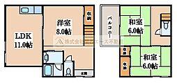 [一戸建] 大阪府堺市西区平岡町 の賃貸【/】の間取り