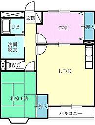 アーバンヒルズ鷺沼II[3階]の間取り