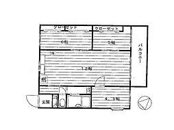 JR中央本線 四ツ谷駅 徒歩24分の賃貸マンション 4階3LDKの間取り