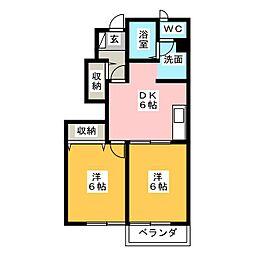 メゾン・ディオールA[1階]の間取り