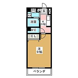エスポワール加美[2階]の間取り