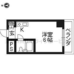 第28長栄四条SKハイツ[504号室]の間取り