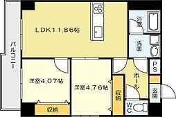 U-Basic reef 三萩野[8階]の間取り