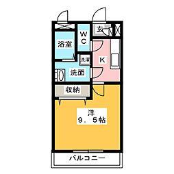 メゾンモンマルトル2[1階]の間取り