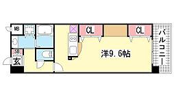 KAISEI新神戸第2WEST[1110号室]の間取り