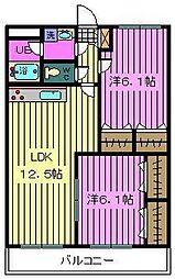 埼玉県川口市三ツ和2丁目の賃貸マンションの間取り