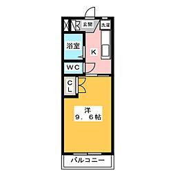エクセレントII[4階]の間取り