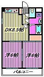 プレステージ富士[4階]の間取り