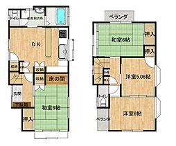 JR五日市線 武蔵五日市駅 徒歩6分の賃貸一戸建て 4DKの間取り