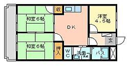 シャトレ湯川[2階]の間取り
