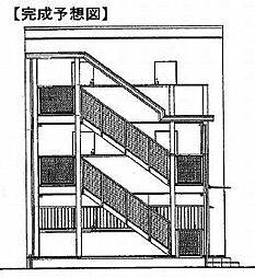 鷹匠町アパート1[3階]の外観