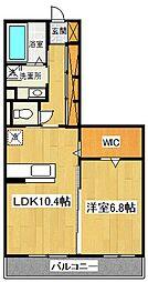 アメニティー大和市下鶴間新築アパート[303号室号室]の間取り