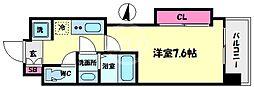 Luxe難波西II(ラグゼ難波西II) 3階1Kの間取り