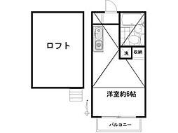 ライトサーム久米川[2階]の間取り