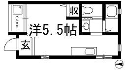 花屋敷日進ビル[1階]の間取り
