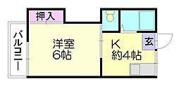 サンフラワー板付E[2階]の間取り