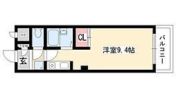 愛知県名古屋市天白区一本松1丁目の賃貸アパートの間取り