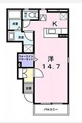 OMA永井 1階1Kの間取り