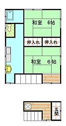 新倉アパート[2号室]の間取り