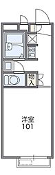 JR片町線(学研都市線) 忍ヶ丘駅 徒歩10分の賃貸アパート 1階1Kの間取り