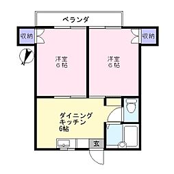 ヒルサイドメゾンA棟1階Fの間取り画像