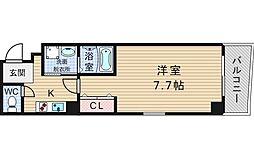 大阪府大阪市西区江之子島2丁目の賃貸マンションの間取り