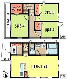 [一戸建] 東京都世田谷区梅丘2丁目 の賃貸【/】の間取り