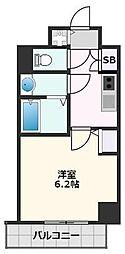 S-RESIDENCE江坂 Crescent 7階1Kの間取り