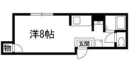 兵庫県宝塚市中州1丁目の賃貸アパートの間取り