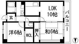 ソアール門戸荘[3階]の間取り