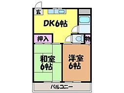 愛媛県松山市正円寺2丁目の賃貸マンションの間取り