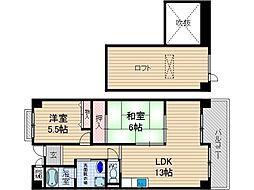 エクセルハイムIII[4階]の間取り