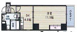 ボーベル南船場[6階]の間取り