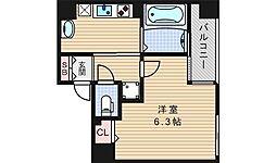 レオンコンフォート難波西[9階]の間取り