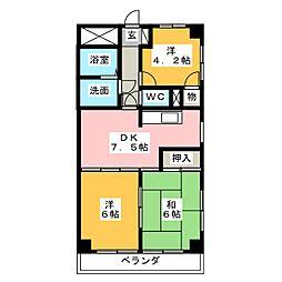 フローワード岩塚[6階]の間取り