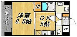 ピュアドームティアラ大手門[4階]の間取り