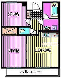 ヴィンテージ桜木町[1階]の間取り