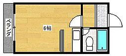コーポ南津守[4階]の間取り