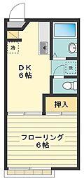サニーハイツ117[1階]の間取り