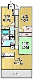 甲子園三番町ハイツ[1階]の間取り