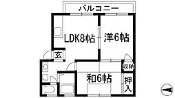 キャピタルハウス[2階]の間取り