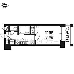 アスヴェル京都御所前II404[4階]の間取り