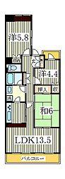 ラ・プレミール[3階]の間取り