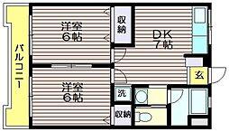 ケーアイマンション[3階]の間取り