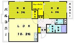 ケヤキハウス[1階]の間取り