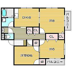 メゾンコトブキ[2階]の間取り