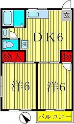 パークヒルズ松戸[2階]の間取り