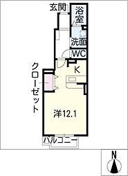 K・Y JADE[1階]の間取り